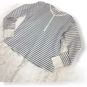Men's LLBean Stripe light Sweater Sz L
